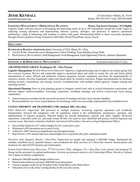 Army Logistician Resume by 4 2 Click Here To View This Resume 2017 Army Infantry