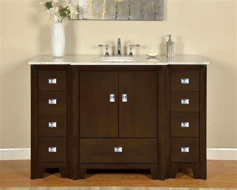 55 Inch Vanity Sink - 55 inch single sink bathroom vanity in walnut