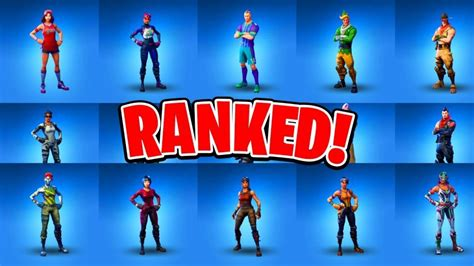 ranking   rare fortnite skins fortnite battle