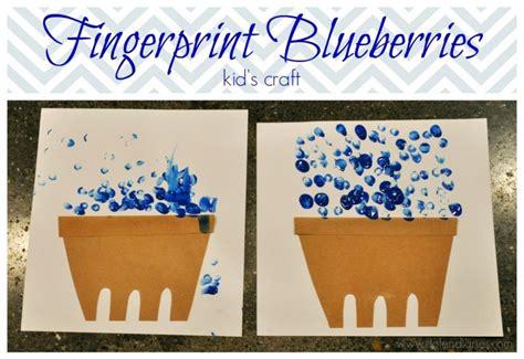 fingerprint blueberries kids craft