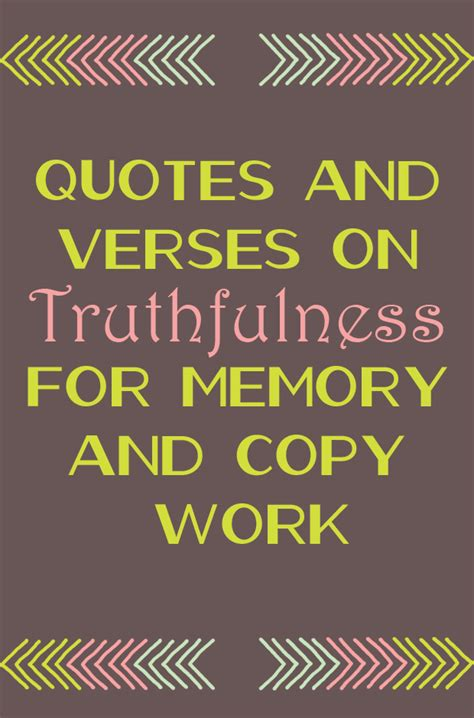 quotes  verses  truthfulness  memory  copy work
