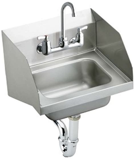 stainless steel commercial hand wash sinks elkay chs1716lrsc hand wash up commercial sink with side