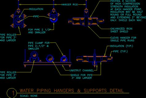 water piping hangers  autocad cad   kb