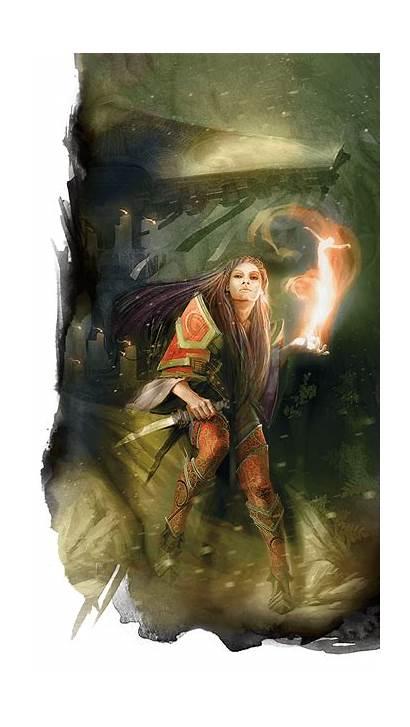Wizard Evocation Fire Lightning Posts Guard Hex