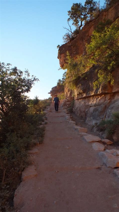 hiking bright angel trail  indian garden   grand canyon