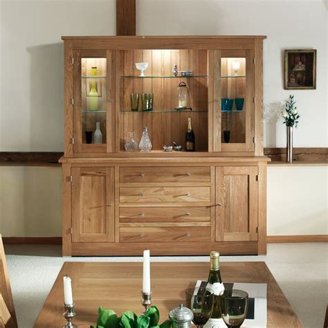 Solid Sideboard by Quercus Solid Oak Sideboard With Glazed Top 1 8m Con