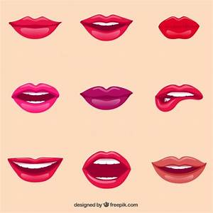 Female lips Vector Free Download