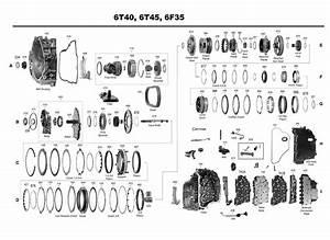 Transmission Repair Manuals Gm 6t45   6t50   6t30  6f30  6f35
