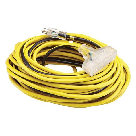 100 ft x 12 gauge multi outlet extension cord with