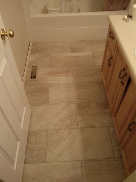 12x24 Porcelain Tile Bathroom Brick Pattern