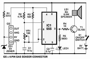 lpg gas leakage sensor alarm circuit schematic With lpg system diagram