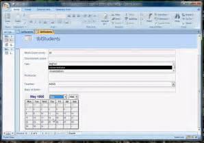 Microsoft Access Calendar Control