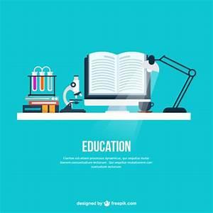Education desk background Vector | Free Download