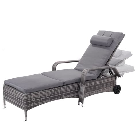 sun chaise lounge chairs giantex outdoor chaise lounge chair recliner cushioned patio garden furniture adjustable lounge