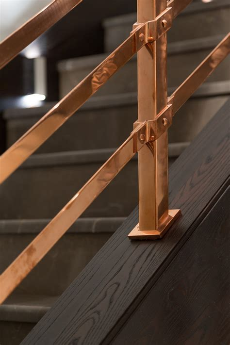 copper handrail detail   Interior Design Ideas.