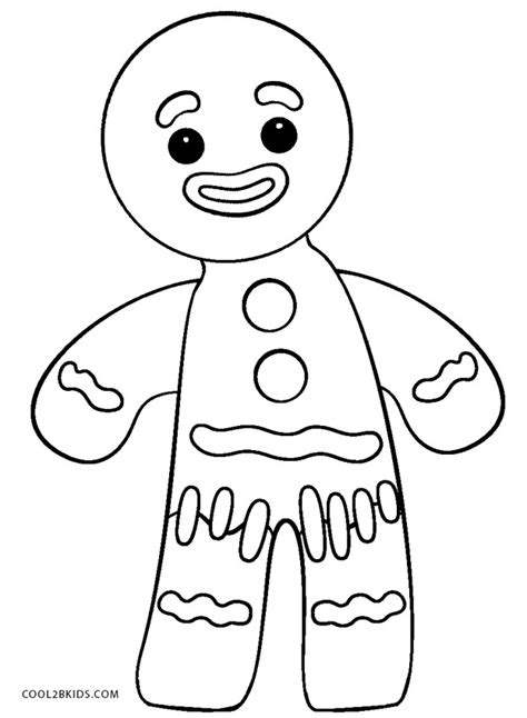 printable gingerbread man coloring pages  kids