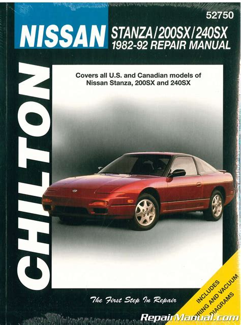 free online auto service manuals 1993 nissan 240sx seat position control chilton nissan stanza 200sx 240sx 1982 1992 repair manual