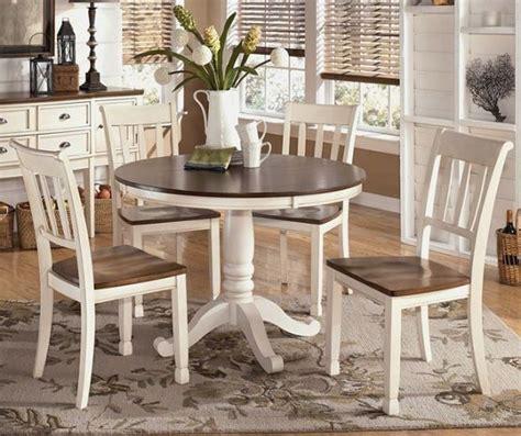 farmhouse style round dining table white brown round farmhouse dining table robertson