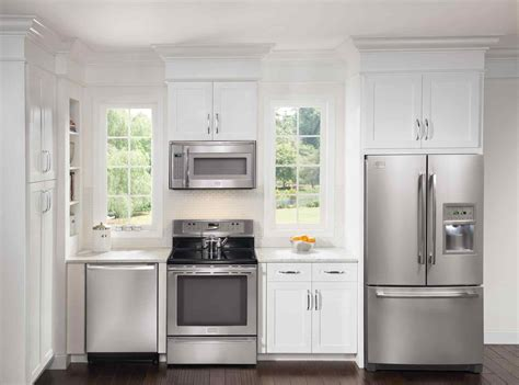 White Kitchens With Stainless Steel Appliances