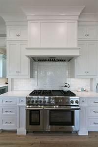 Custom Range Hood In White Kitchen