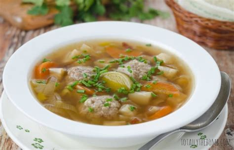 It's so quick and i always have the stuff around to make it and the only thing better than having. Chicken Meatball Soup