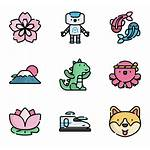 Japan Icon Icons Kawaii Flaticon Doodles Packs