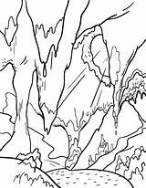 Cave Coloring Clipart Limestone Printable Pdf Webstockreview Template Templates sketch template