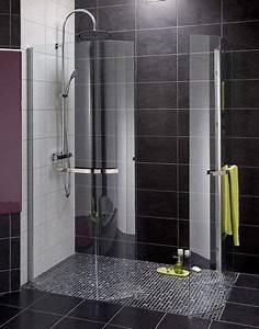 pour fermer une douche a litalienne une paroi galbee With porte serviette douche italienne