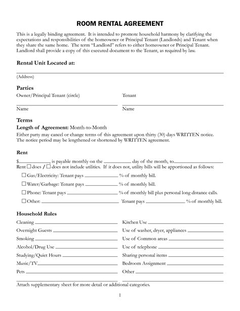 lease rental agreement forms lease agreement template tryprodermagenix org Free