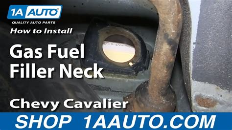 install replace rusted gas fuel filler neck