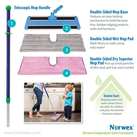 norwex double sided mop system