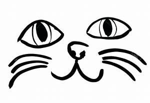 Simple, Cat, Face, Drawing
