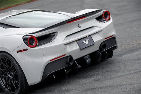 At the centre two pylons are combined with a. Vorsteiner FERRARI 488 ITALIA Decklid Spoiler Carbon Fiber Glossy | Exterior | iND Distribution