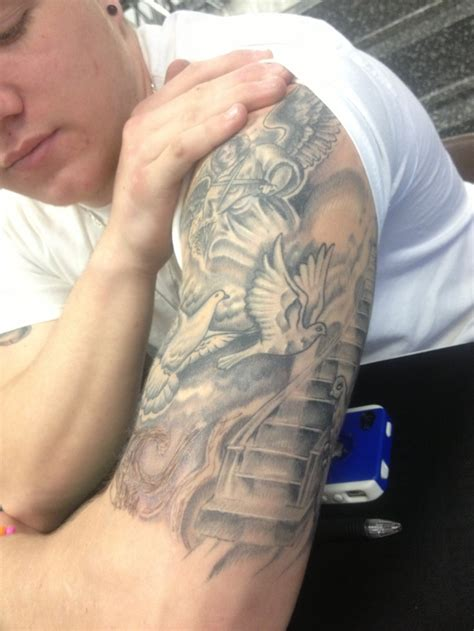 Staircase To Heaven Tattoo by Stairway To Heaven Half Sleeve Tattoo Tattoo