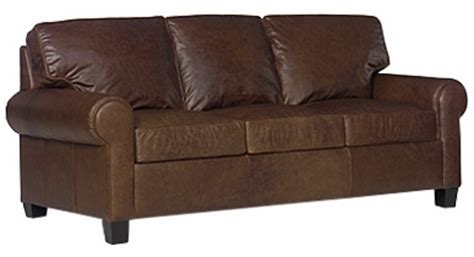 contemporary leather queen sleeper sofa  rolled arms