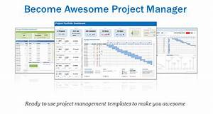 excel project portfolio management templates download With project management tracking document