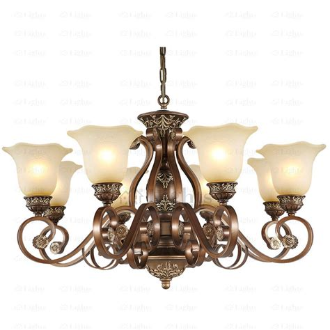 vintage chandelier for rustic 8 light resin and wrought iron vintage chandelier 6785