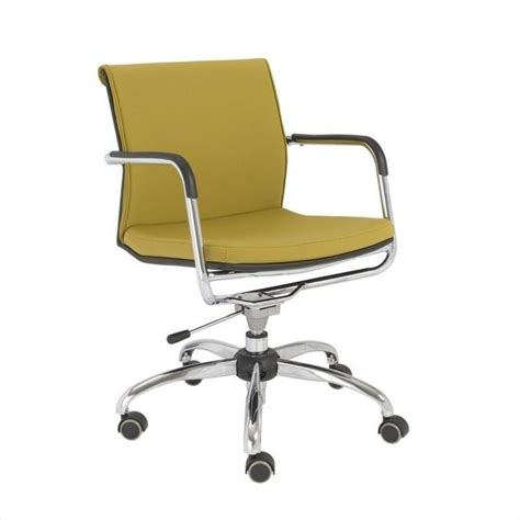 eurostyle baird office chair in mustard yellow 00700yel