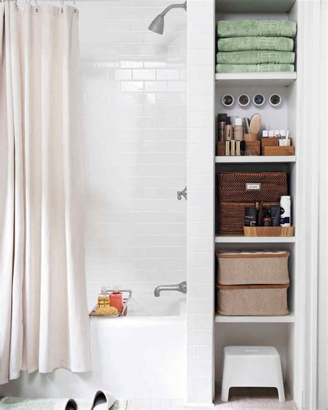 smart space saving bathroom storage ideas martha stewart