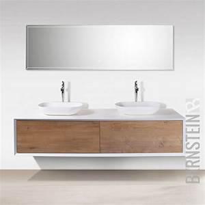 Möbel Für Aufsatzwaschbecken : details zu badm bel 180 cm eiche led spiegel aufsatzwaschbecken unterschrank waschtisch ~ Markanthonyermac.com Haus und Dekorationen