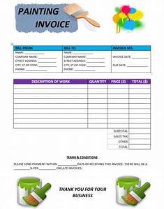 Construction Management Resume Templates Painting Invoice Templates Free Painting Invoice
