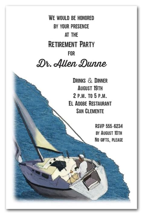 Party sign retirement party sign personalised party sign. Setting Sail Party Invitations, Sailboat Retirement Party Invitations