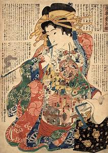Japanese art Japanese geishas art prints Geisha with a