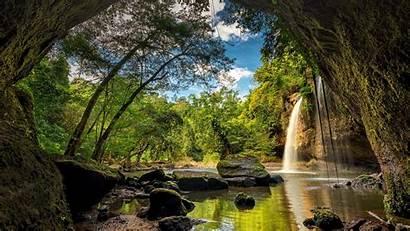 Spotlight Windows Waterfall Forest Thailand Haew Suwat