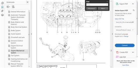 Official Workshop Service Repair Manual For Kia Soul