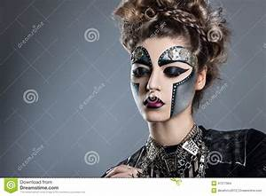 Woman With Makeup Steampunk Stock Photo Image 47277964