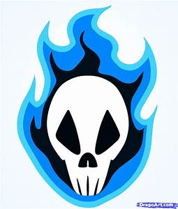 Learn How to Draw a Fire Skull, Skulls, Pop Culture, FREE ...