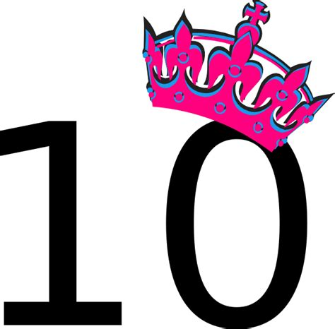 ten clipart png pink tilted tiara and number 10 clip at clker