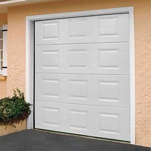 porte de garage sectionnelle motorisee paris blanc With porte de garage avec promo porte interieur