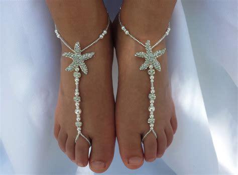 baby barefoot sandals toddler kids bridal starfish foot